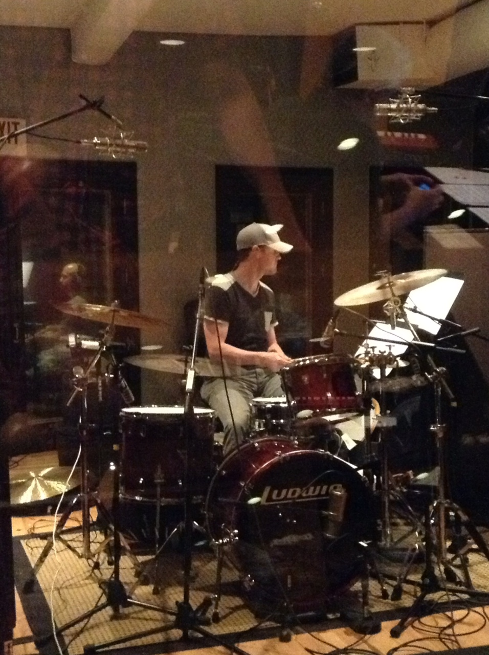 Jared Ribble drumming on Mile High Hymns record for Denver & the Mile High Orchestra